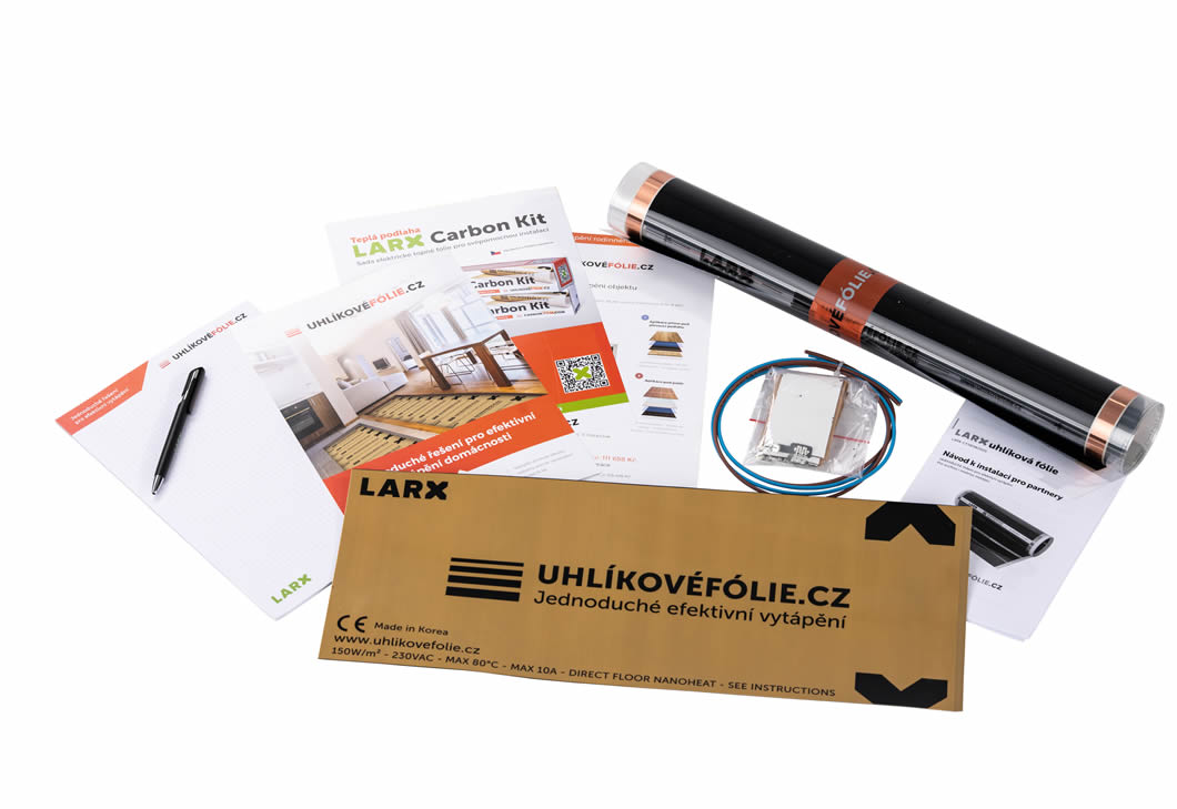 LARX CARBON-FILM.COM heating system assembly kit