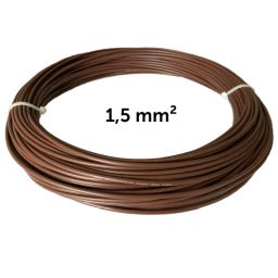 Wire brown 1.5 mm², coil 50 m
