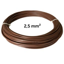 Wire brown 2.5 mm², coil 50 m